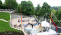 Wharton Park Opening Weekend Busy ampitheatre