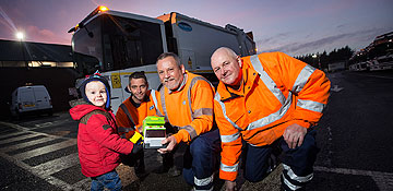 Bin crew make two-year-old Jack's day