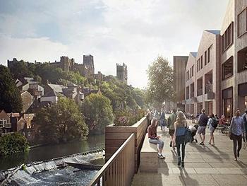 New development along Wear riverbank
