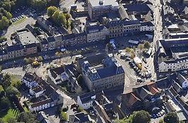 Bishop Auckland aerial view