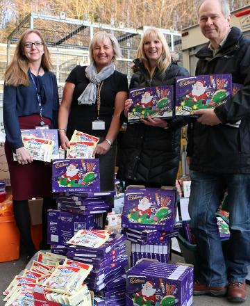 Festive food donations handed to Durham Foodbank