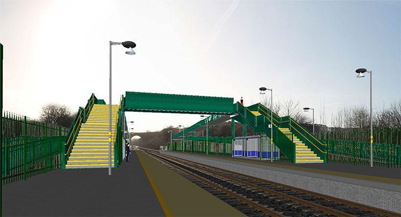 Horden Station - artists impression
