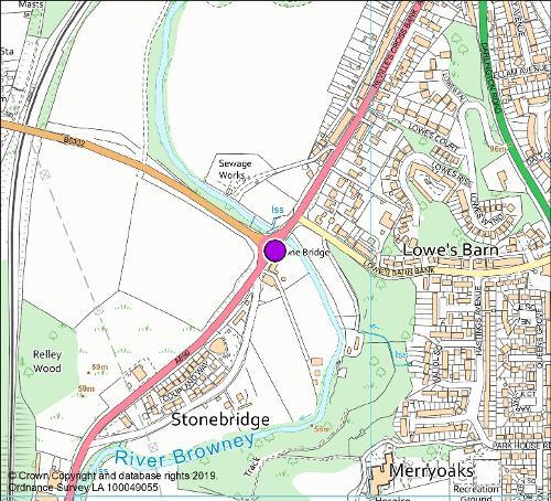 Stonebridge Inn roundabout camera location map