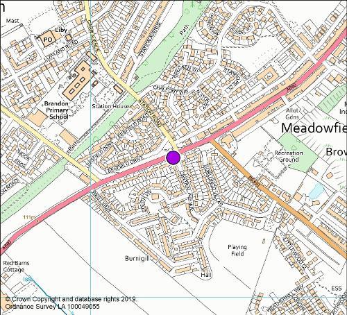 Central Avenue camera location map