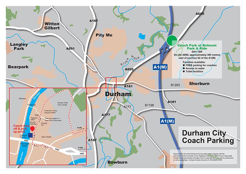 Durham City Coach Drop Off Point