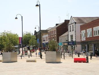 The new planters at the Market Place