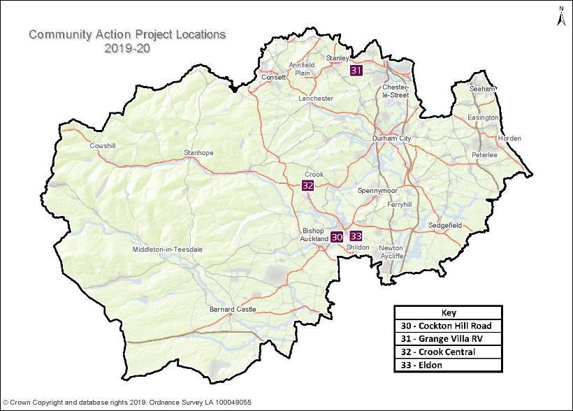 Community Action Project Locations 2019-20