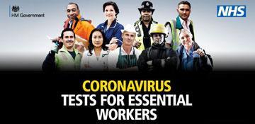 Coronavirus testing for essential workers