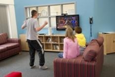 Young person's lounge in Aycliffe Secure Centre