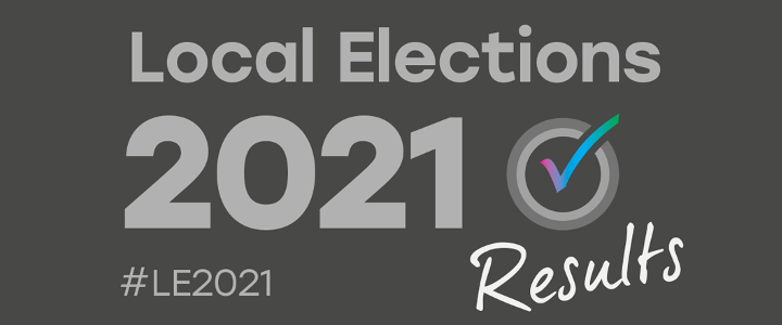 Election results 2021 - mobile version