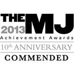 Municipal Journal 2013 Achievement Awards - Commended Logo