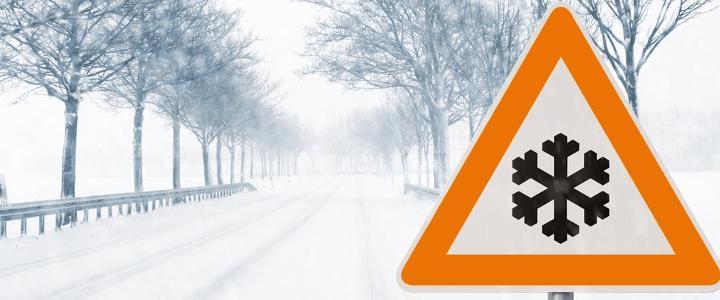 Amber Snow Warning - mobile version
