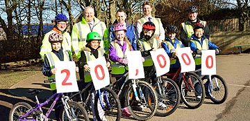 Bikeability training hits 20,000 mark