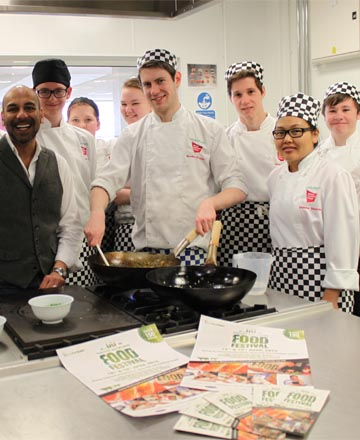 Catering students meet the Urban Rajah