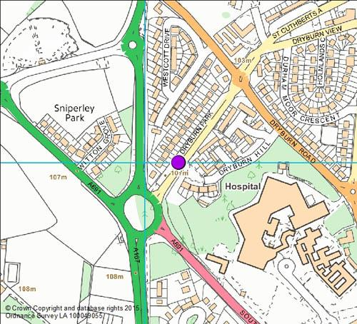 Dryburn Park camera location map