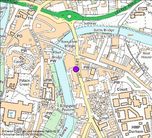 New Elvet Map
