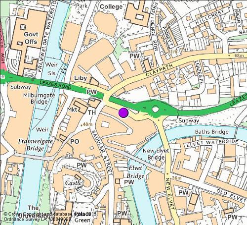 Prince Bishops camera location map