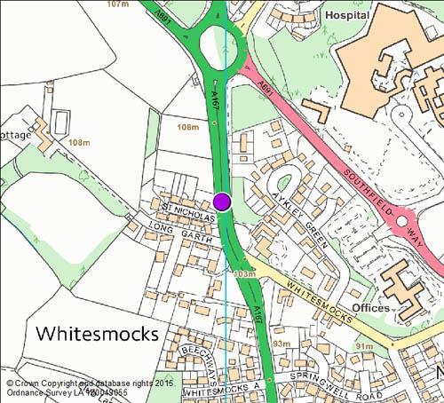 Sniperley Roundabout Whitesmocks Map