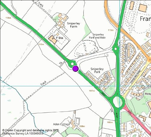 A691 Lanchester Road map