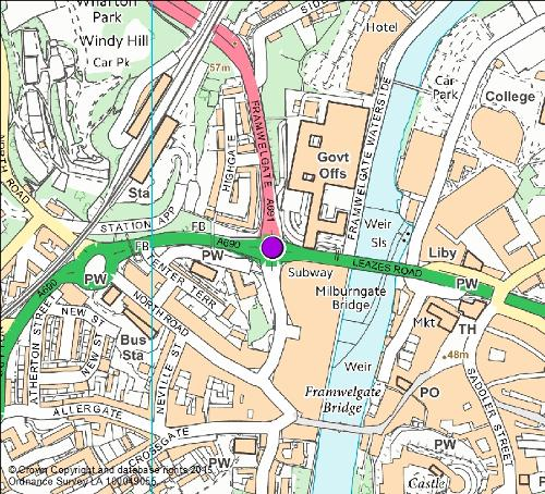 Milburngate roundabout map
