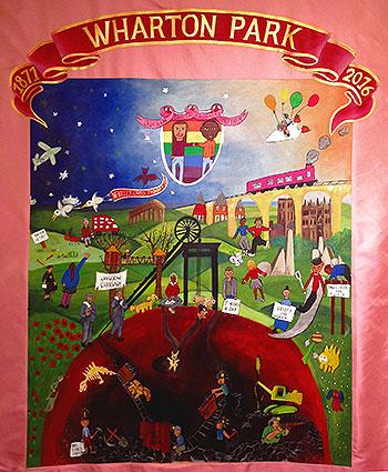Wharton Park Banner - Nevilles Cross