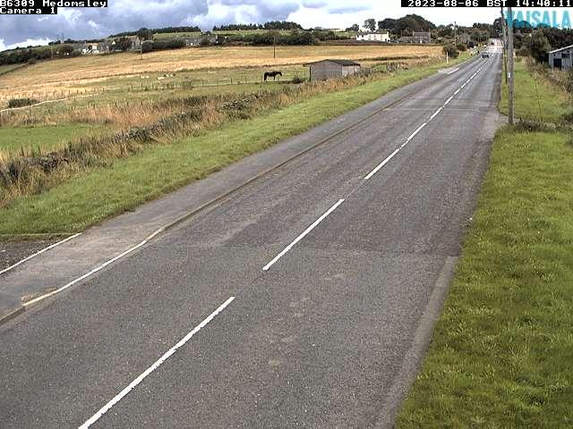 B6309 Medomsley weather camera image