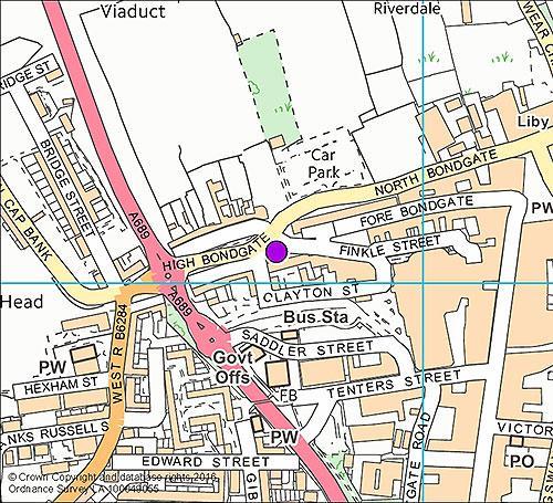 Bishop Auckland 1 - High Bondgate camera location map