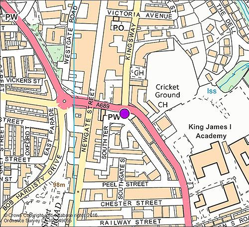 Bishop Auckland 6 - Kingsway camera location map