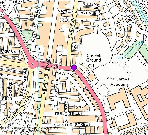 Bishop Auckland 7 - South Church Road camera location map