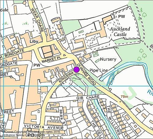 Bishop Auckland 8 - Durham Road camera location map