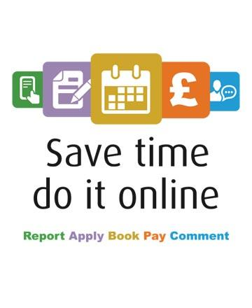 Save time do it online