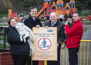 Photo showing Councillors and the public at the Dog Control 2017 launch