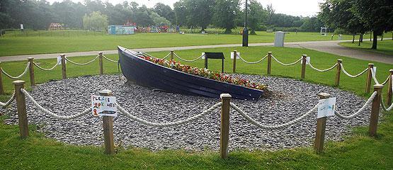 Boat planter in Chester-le-Street Riverside Park