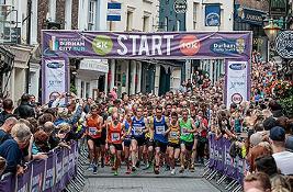 Runners at Durham City Run