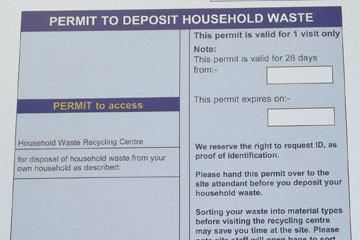 Garden and mixed waste permits