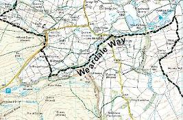 Map of The Weardale Way