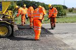 Plastic roads technology used to resurface a section of the A689 near Sedgefield August 2018