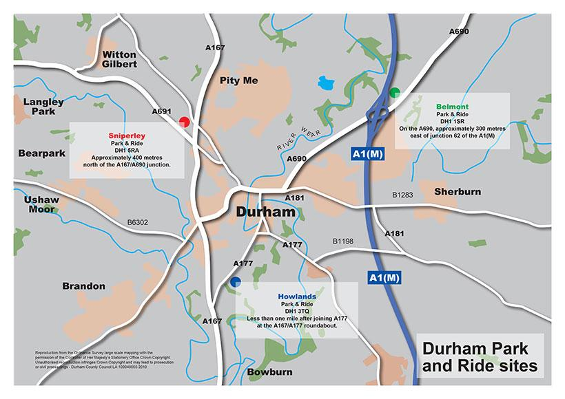 Durham Park and Ride locations