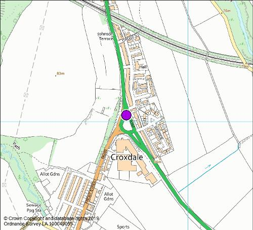 Croxdale roundabout camera location map