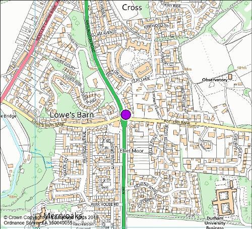 Darlington roundabout camera location map