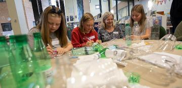 Free sessions creating art from plastic waste for Lumiere