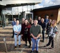 Staff outside Aycliffe Secure Centre