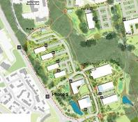 Aerial plan of Aykley Heads