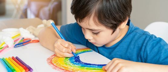 Child colouring in