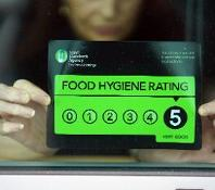 Food Hygiene rating 3 star badge