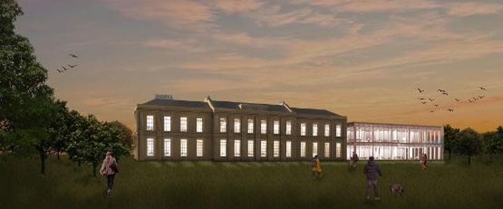 Approach view of the proposed History Centre