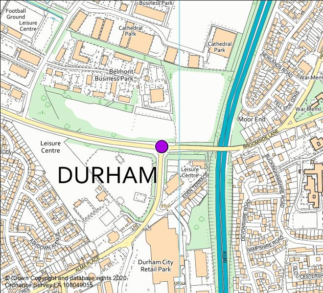 Broomside Lane camera location map