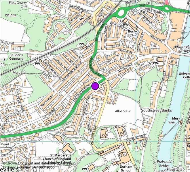 A690 Crossgate Peth camera location map