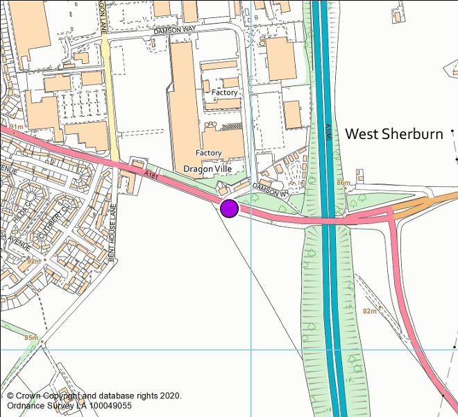 A181 Sherburn Road camera location map