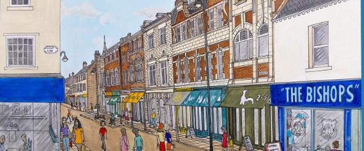 Market Place, Bishop Auckland c1862